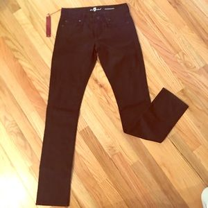 """NWT! 7 For All Mankind Black """"Roxanne"""" Jeans"""